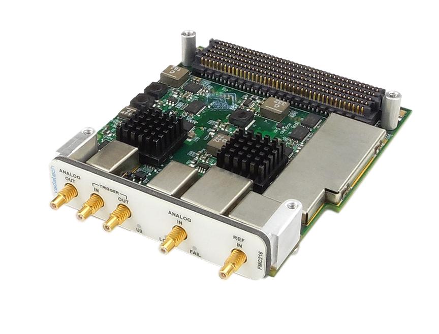 ADC 12-bit @ 2 6 GSPS and DAC 14-bit @ 5 6 GSPS FMC module